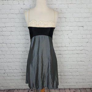 Diane Von Furstenberg Shimmering Gray Slip Dress 4